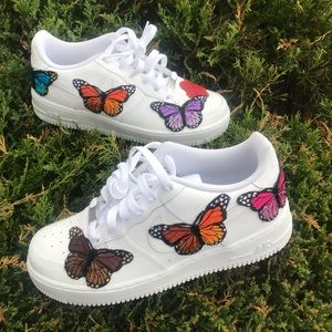 Customized Low Top Butterfly Air Force One Custom